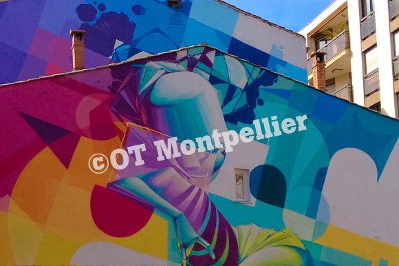 Freque réalisée par l'artiste Zest dans le quartier Rondelet à Montpellier
