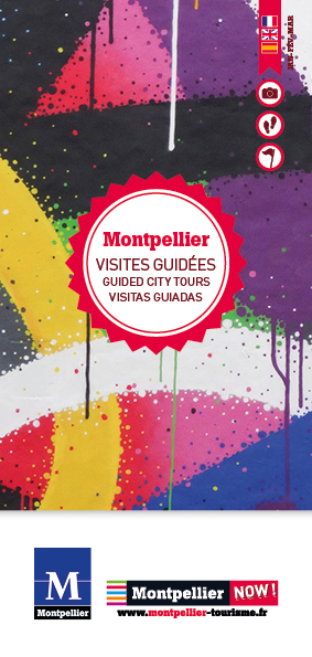 Couverture du programme des visites guidées hiver de l'OT Montpellier