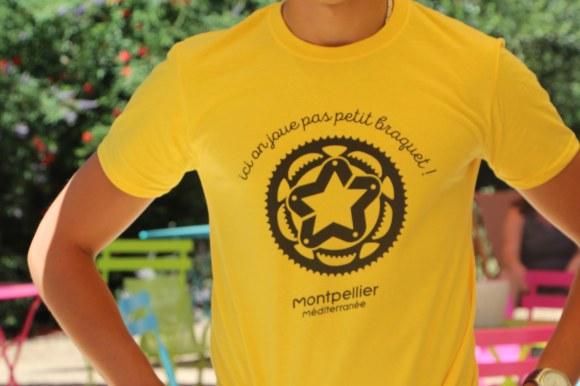 t-shirt maillot jaune Tour de France Montpellier Méditerranée