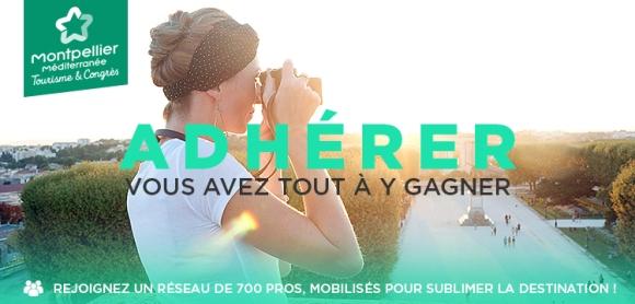Bandeau WEB Campagne adhésion 2017 Office de Tourisme et des Congrès Montpellier Méditerranée Métropole