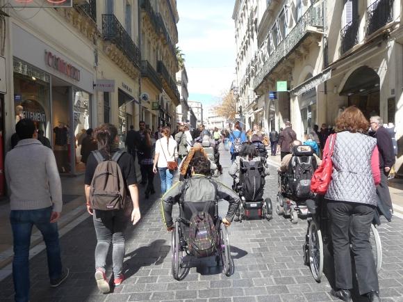 Visite guidée de Montpellier pour les personnes en situation de handicap