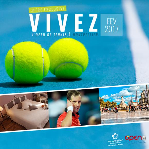affiche offre séjour Open Sud de France Montpellier