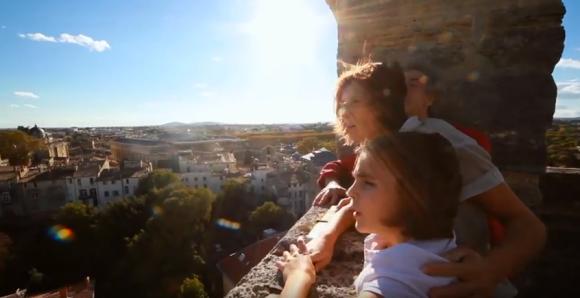 En haut de l'Arc de Triomphe - Montpellier