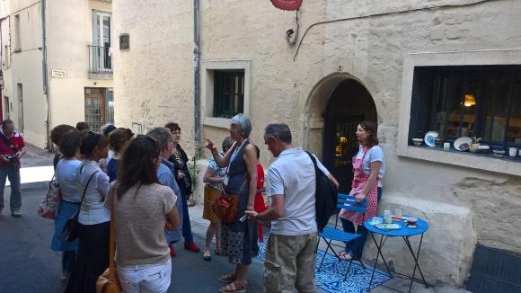 visite guidée à chaque boutique son histoire, Montpellier