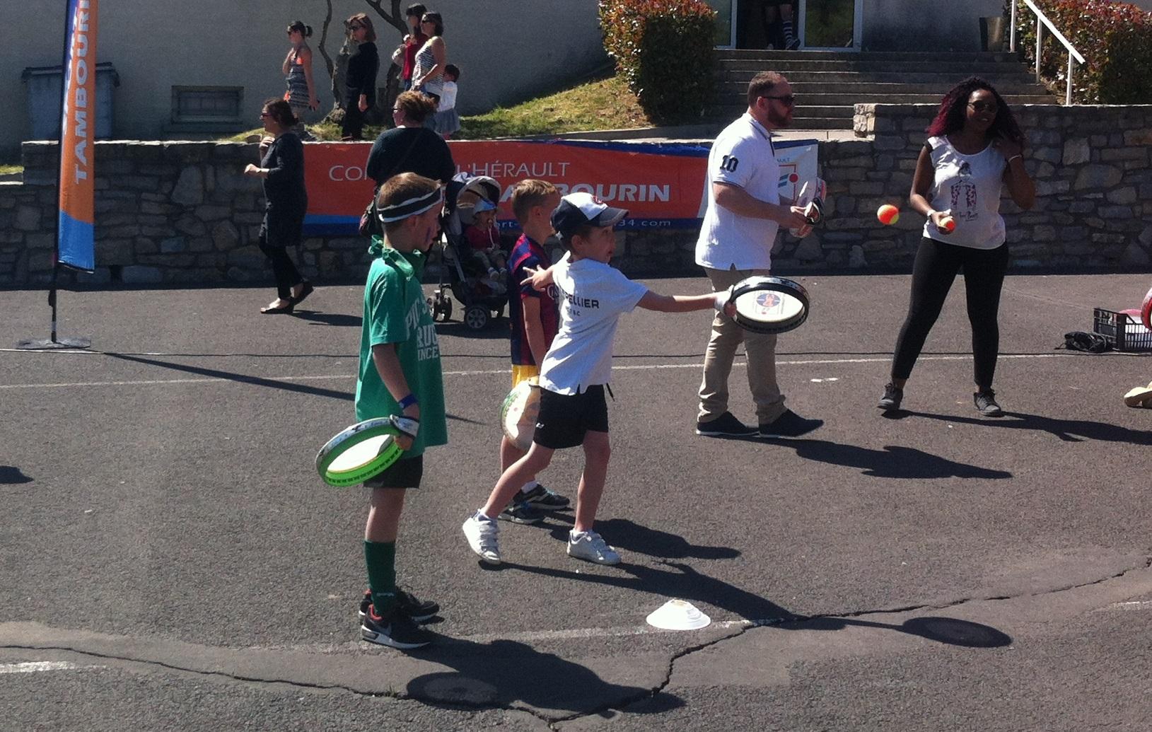 Initiation sport-tambourin Montpellier